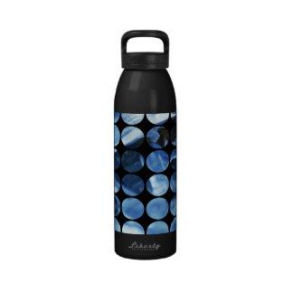 Winter Polka Dots Blue Ice Reusable Water Bottles