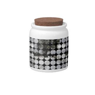 Winter Polka Dots Country Road + Snow Candy Jar