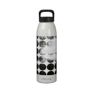 Winter Polka Dots Forest Archway Water Bottle