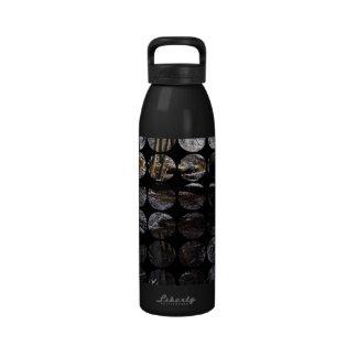 Winter Polka Dots Forest Brook Water Bottle