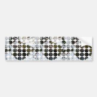Winter Polka Dots Forest Reflection Bumper Sticker