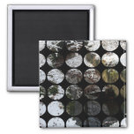 Winter Polka Dots Forest Reflection Refrigerator Magnets