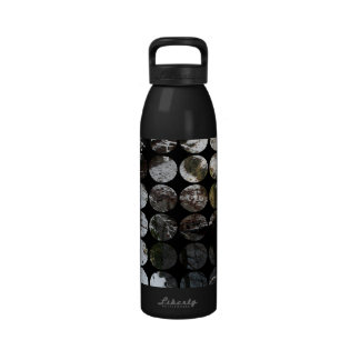 Winter Polka Dots Forest Reflection Drinking Bottle