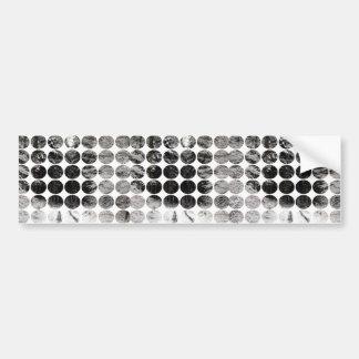 Winter Polka Dots Forest Snow Bumper Sticker