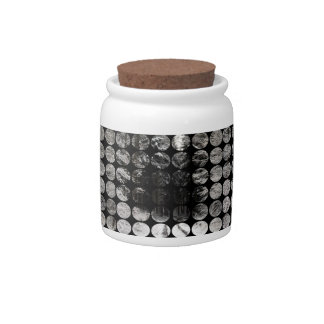 Winter Polka Dots Forest Snow Candy Jar