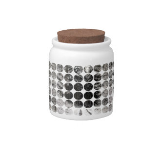 Winter Polka Dots Forest Snow Candy Jars
