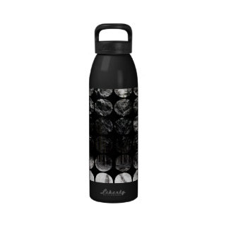 Winter Polka Dots Forest Snow Water Bottle