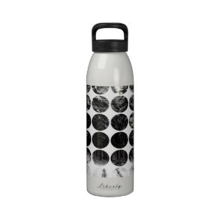 Winter Polka Dots Forest Snow Reusable Water Bottle