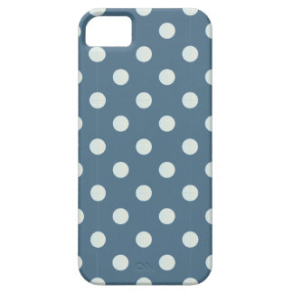 winter polka dots light blue white cold iPhone SE/5/5s case