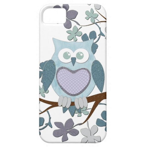 Winter Polka Owl in Tree iPhone 5 Cover