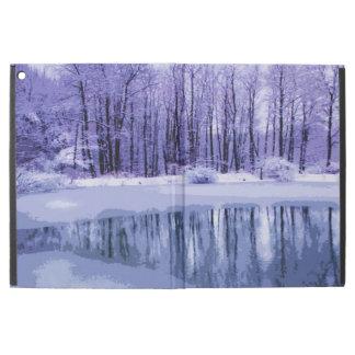 Winter Pond in Blue iPad Pro Case