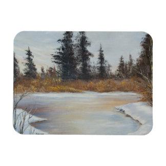Winter Pond Landscape Magnet