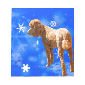 WINTER POODLE NOTEPAD