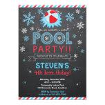 """Winter Pool Invitation / Winter Pool Invite 5"""" X 7"""" Invitation Card"""
