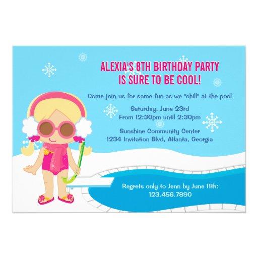 Winter Pool Party Invite