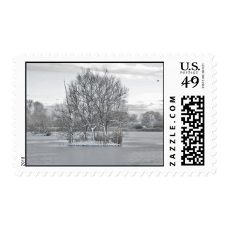 Winter postage stamp