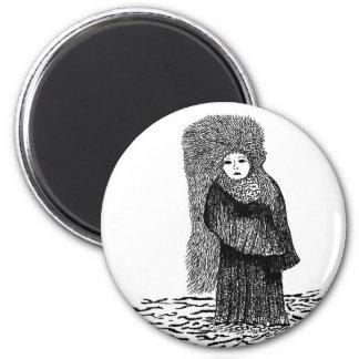 Winter Princess 2 Inch Round Magnet