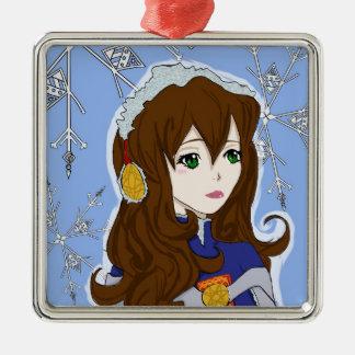Winter Princess Christmas Ornaments