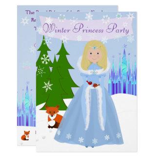 Winter Princess Party Blonde Hair Card