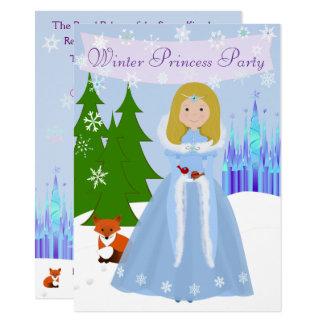 Winter Princess Party Dark Blonde Hair Card