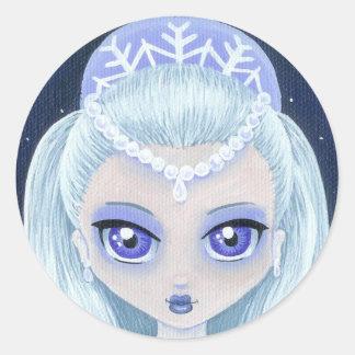 Winter Princess Portrait Sticker