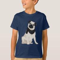 Winter Pug Dog for Dog Lovers T-Shirt
