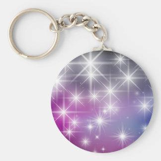 Winter, Purple, Lilac , White Lights, Sparkles Keychain
