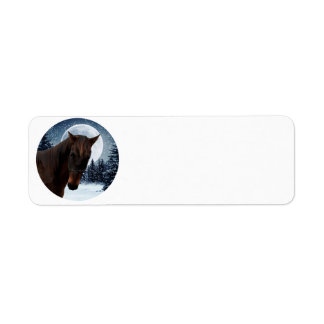 Winter Quarter Horse Label