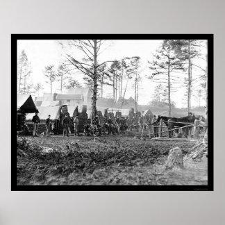 Winter Quarters of Brandy Station, VA 1864 Print