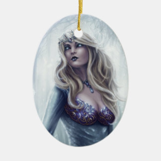 Winter Queen Oval Ornament