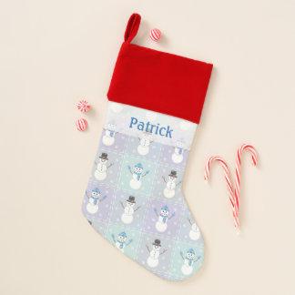Winter Quilt Velvet Lined Stocking
