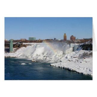 Winter Rainbow American Falls Card