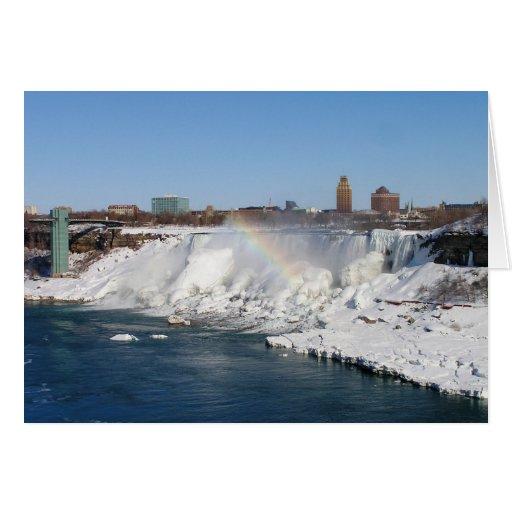 Winter Rainbow: American Falls Card