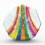 Winter rainbow design acrylic award