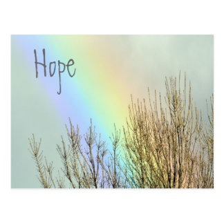 Winter Rainbow Hope Postcard