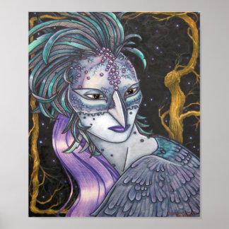 Winter Raven by Patricia Corron Poster