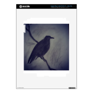 winter raven decal for iPad 3