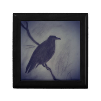 winter raven keepsake box