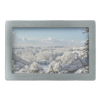 Winter Rectangular Belt Buckle