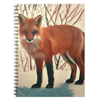 Winter Red Fox Notebook
