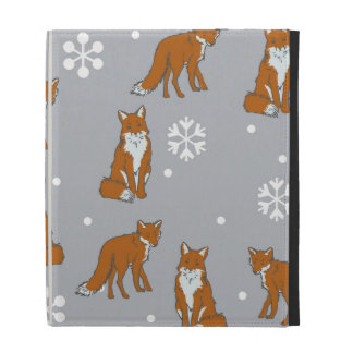 Winter Red Foxes Pattern iPad Cases