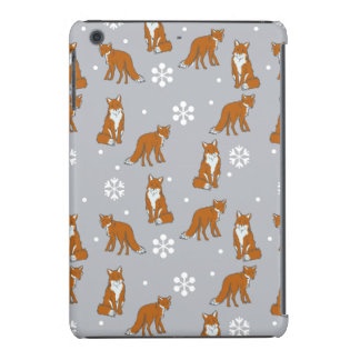 Winter Red Foxes Pattern iPad Mini Covers