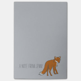 Winter Red Foxes Pattern Post-it Notes