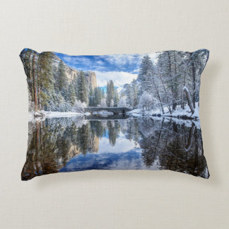 Winter Reflection at Yosemite Accent Pillow