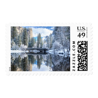 Winter Reflection at Yosemite Postage Stamps