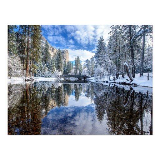 Winter Reflection at Yosemite Postcards