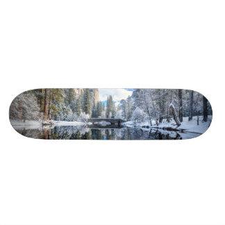 Winter Reflection at Yosemite Skateboard Deck