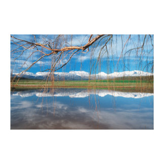 Winter Reflections. Ceres, Boland District Canvas Print