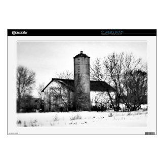 "Winter Refuge Barn 17"" Laptop Decal"