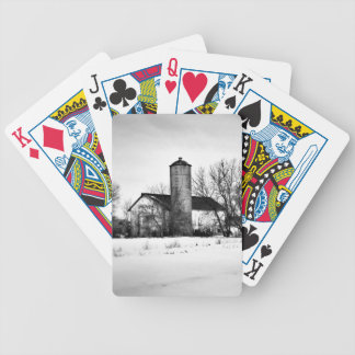 Winter Refuge Barn Bicycle Playing Cards